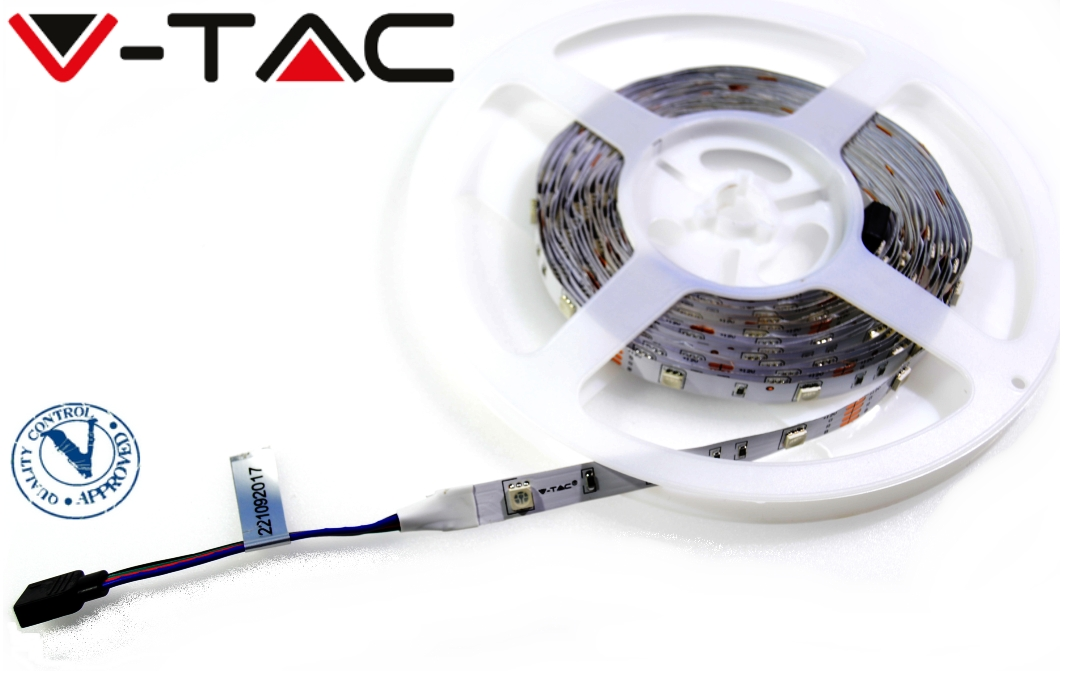 V-TAC RGB LED pásik, SMD5050, 150LED, 12V