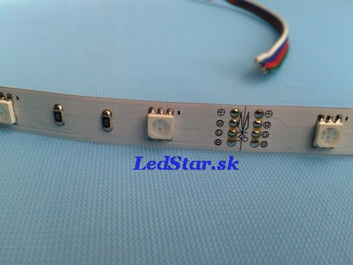 Premium RGB LED pásik, SMD5050, 300LED, 12V